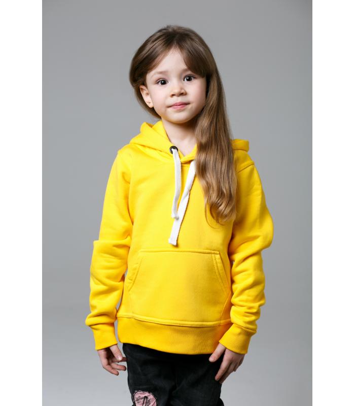 Толстовка детская желтая