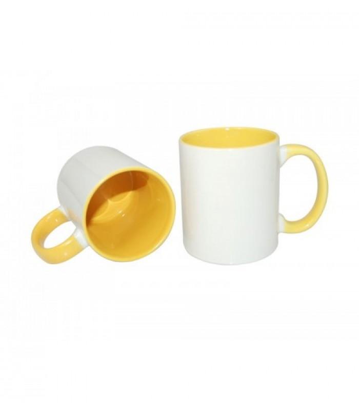 Кружка желтая