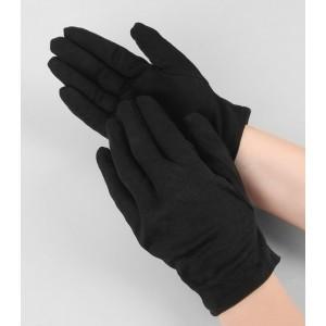 Черные хлопковые перчатки