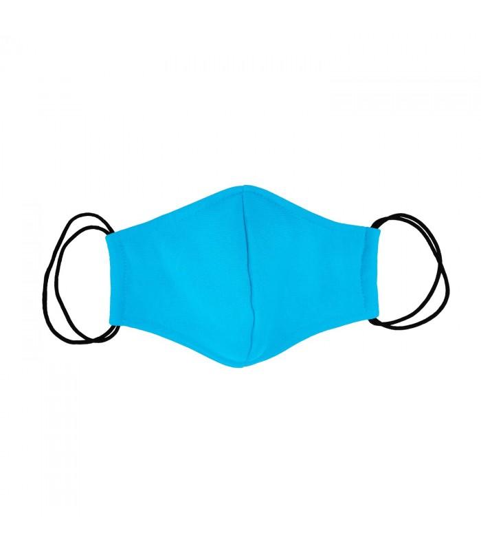 Многоразовая маска голубая