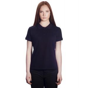 Поло женское темно-синее