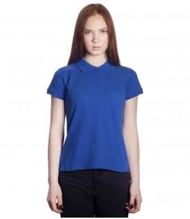 Поло женское синее