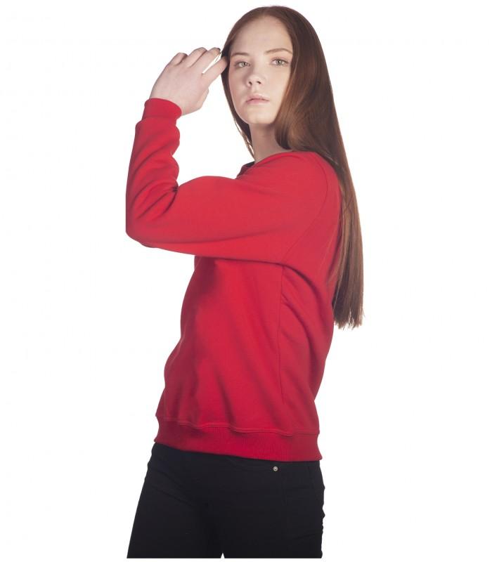 красный свитшот женский