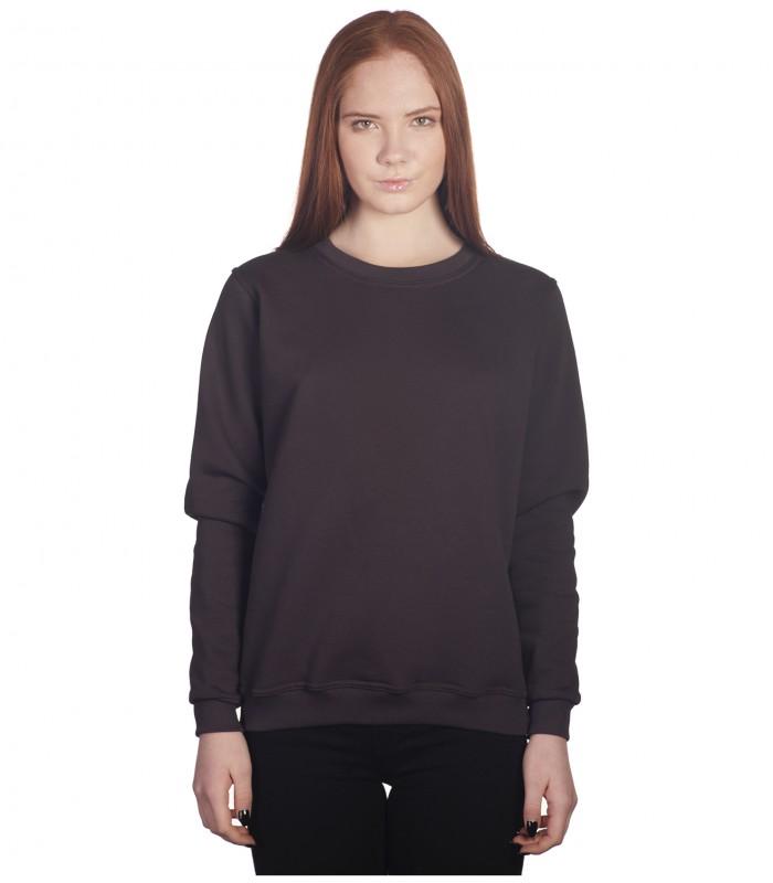 Свитшот женский темно-серый