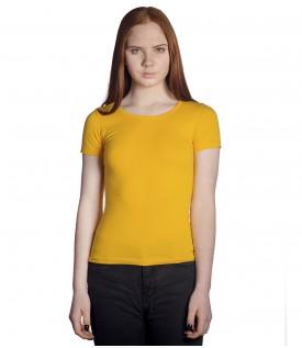 Футболка женская желтая