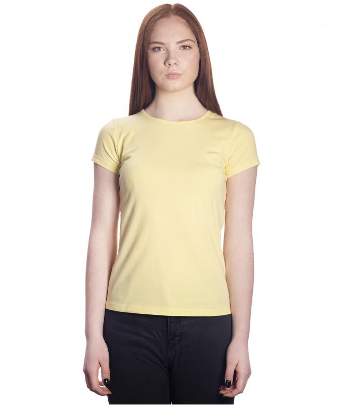 Футболка женская светло-желтая