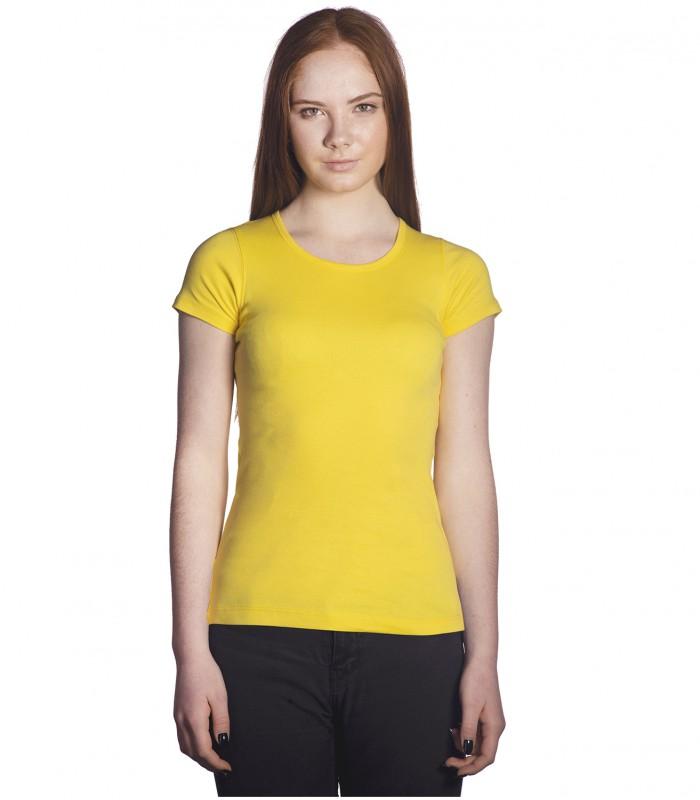Футболка женская лимонная