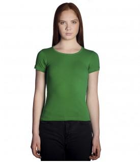 Футболка женская зеленая