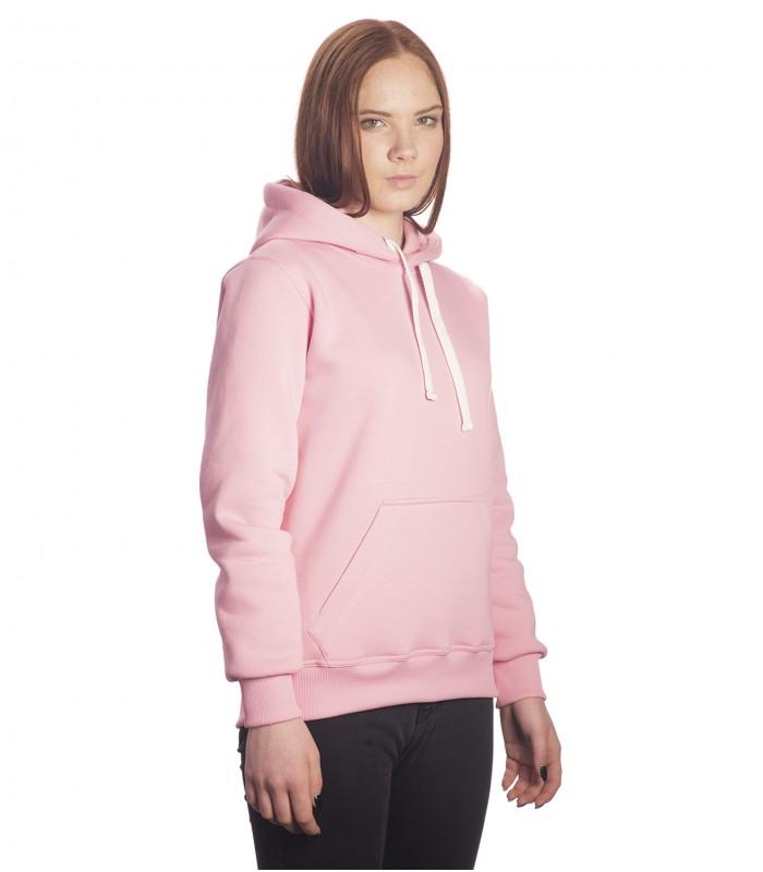 Толстовка женская кенгуру розовая