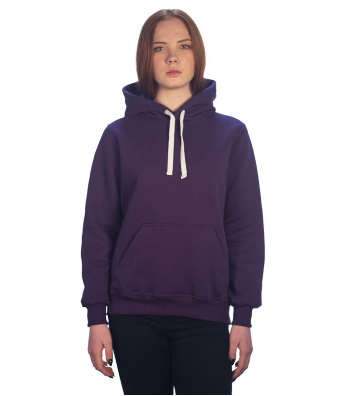 Толстовка женская кенгуру фиолетовая