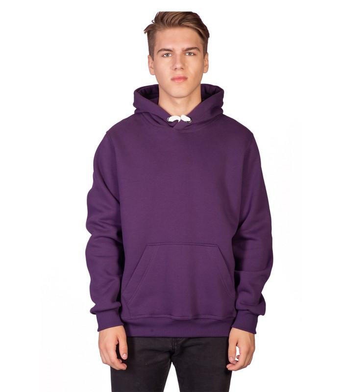 Толстовка мужская кенгуру фиолетовая