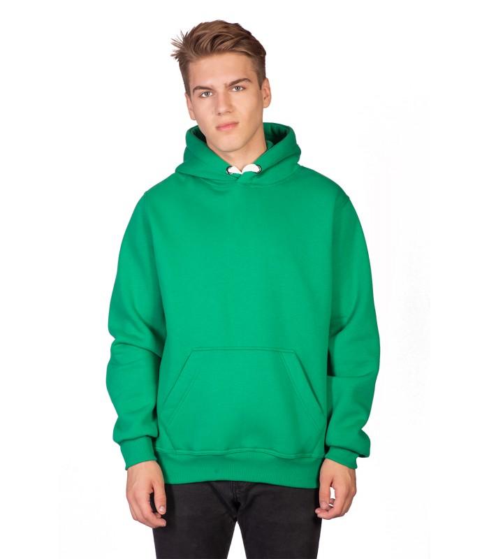 Толстовка мужская кенгуру зеленая