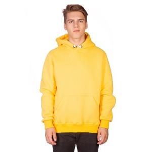 Толстовка мужская кенгуру желтая