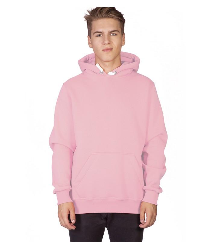 Толстовка мужская кенгуру розовая