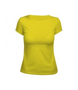 Футболка женская желтая (стрейч)