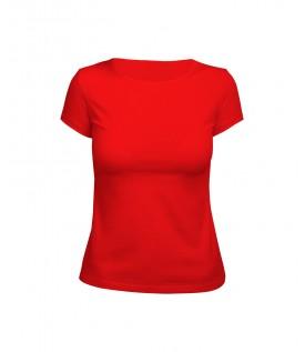 Футболка женская красная (стрейч)