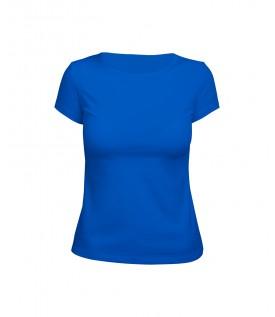 Футболка женская синяя (стрейч)