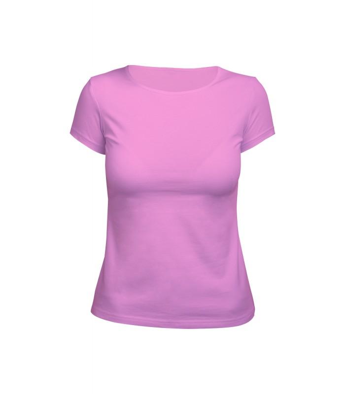 Футболка женская розовая (стрейч)