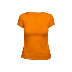 Футболка женская оранжевая (стрейч)