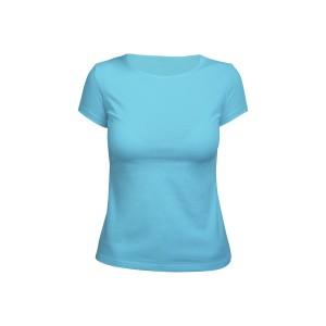 Футболка женская голубая (стрейч)