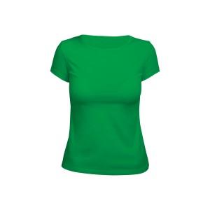 Футболка женская зеленая (стрейч)